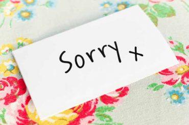 Susahnya Meminta Maaf